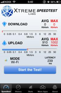 WIMAX通信速度測定