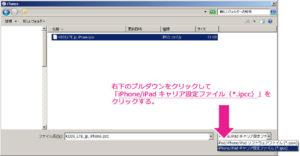 ダウンロードしたキャリア設定プロファイルを選択します。